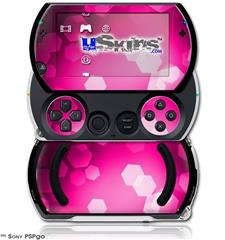 Bokeh Hex Hot Pink - Decal Style Skins (fits Sony PSPgo)