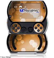 Bokeh Hex Orange - Decal Style Skins (fits Sony PSPgo)