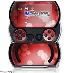 Bokeh Hex Red - Decal Style Skins (fits Sony PSPgo)