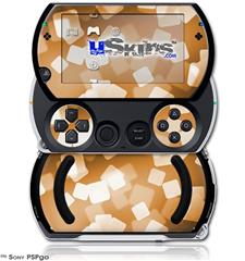 Bokeh Squared Orange - Decal Style Skins (fits Sony PSPgo)