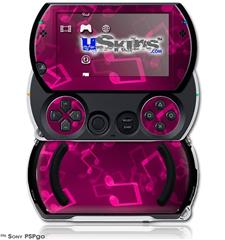 Bokeh Music Hot Pink - Decal Style Skins (fits Sony PSPgo)
