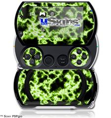 Electrify Green - Decal Style Skins (fits Sony PSPgo)