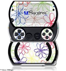 Kearas Flowers on White - Decal Style Skins (fits Sony PSPgo)