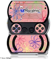 Kearas Flowers on Pink - Decal Style Skins (fits Sony PSPgo)