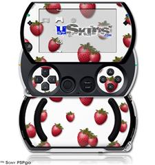 Strawberries on White - Decal Style Skins (fits Sony PSPgo)