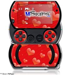 Glass Hearts Red - Decal Style Skins (fits Sony PSPgo)