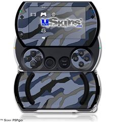 Camouflage Blue - Decal Style Skins (fits Sony PSPgo)