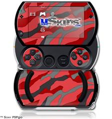 Camouflage Red - Decal Style Skins (fits Sony PSPgo)