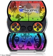 Cute Rainbow Monsters - Decal Style Skins (fits Sony PSPgo)