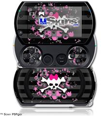 Pink Bow Skull - Decal Style Skins (fits Sony PSPgo)