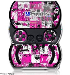 Pink Graffiti - Decal Style Skins (fits Sony PSPgo)
