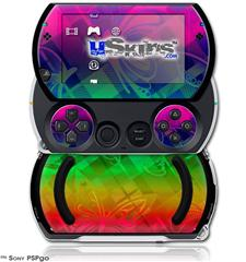 Rainbow Butterflies - Decal Style Skins (fits Sony PSPgo)