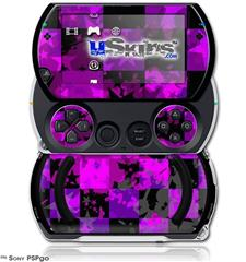 Purple Star Checkerboard - Decal Style Skins (fits Sony PSPgo)