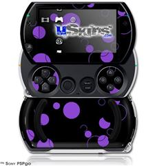 Lots of Dots Purple on Black - Decal Style Skins (fits Sony PSPgo)