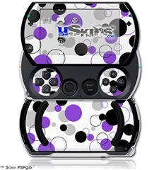 Lots of Dots Purple on White - Decal Style Skins (fits Sony PSPgo)