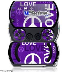 Love and Peace Purple - Decal Style Skins (fits Sony PSPgo)