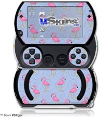 Flamingos on Blue - Decal Style Skins (fits Sony PSPgo)