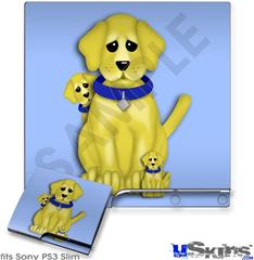 Sony PS3 Slim Skin - Puppy Dogs on Blue