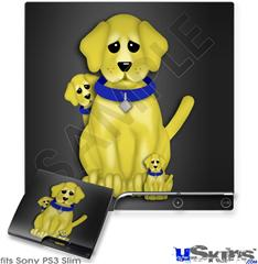 Sony PS3 Slim Skin - Puppy Dogs on Black