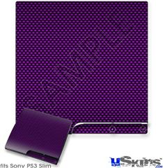 Sony PS3 Slim Skin - Carbon Fiber Purple