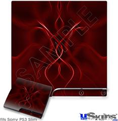 Sony PS3 Slim Skin - Abstract 01 Red