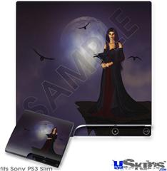 Sony PS3 Slim Skin - Kathy Gold - Night Of Raven 1