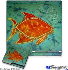 Sony PS3 Slim Skin - Tie Dye Fish 100