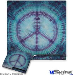 Sony PS3 Slim Skin - Tie Dye Peace Sign 107