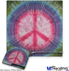 Sony PS3 Slim Skin - Tie Dye Peace Sign 108