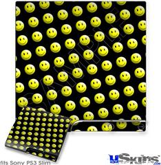 Sony PS3 Slim Skin - Smileys on Black