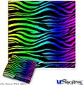 Sony PS3 Slim Skin - Rainbow Zebra