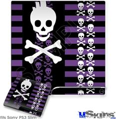 Sony PS3 Slim Skin - Skulls and Stripes 6