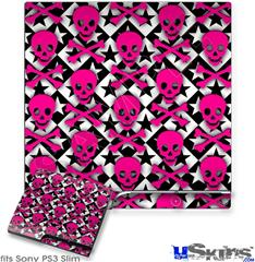 Sony PS3 Slim Skin - Pink Skulls and Stars