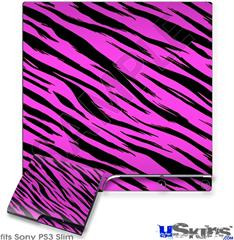 Sony PS3 Slim Skin - Pink Tiger