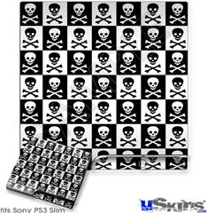 Sony PS3 Slim Skin - Skull Checkerboard