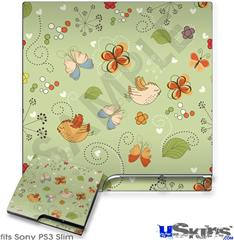 Sony PS3 Slim Skin - Birds Butterflies and Flowers