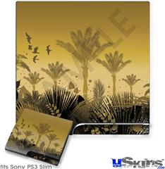 Sony PS3 Slim Skin - Summer Palm Trees