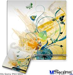 Sony PS3 Slim Skin - Water Butterflies