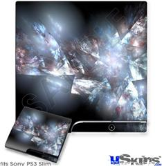 Sony PS3 Slim Skin - Coral Tesseract
