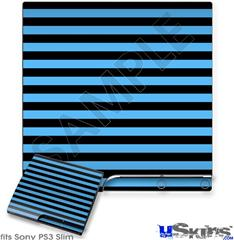 Sony PS3 Slim Skin - Stripes Blue