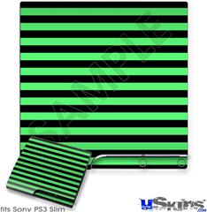Sony PS3 Slim Skin - Stripes Green