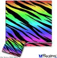 Sony PS3 Slim Skin - Tiger Rainbow