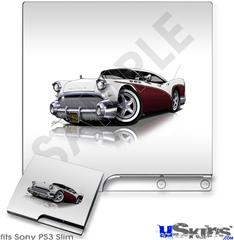 Sony PS3 Slim Skin - 1957 Buick Roadmaster Burgundy