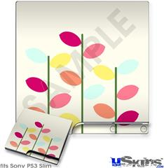 Sony PS3 Slim Decal Style Skin - Plain Leaves