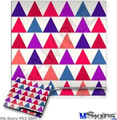 Sony PS3 Slim Decal Style Skin - Triangles Berries