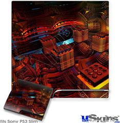 Sony PS3 Slim Decal Style Skin - Reactor
