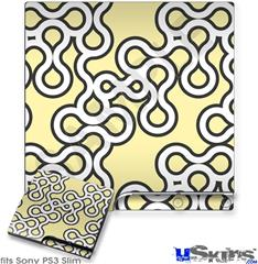 Sony PS3 Slim Decal Style Skin - Locknodes 03 Yellow Sunshine