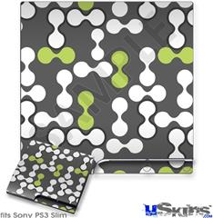Sony PS3 Slim Decal Style Skin - Locknodes 04 Sage Green