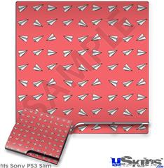 Sony PS3 Slim Decal Style Skin - Paper Planes Coral
