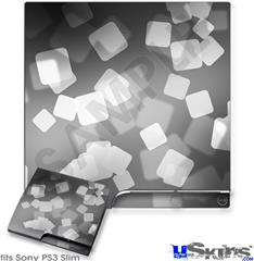 Sony PS3 Slim Decal Style Skin - Bokeh Squared Grey
